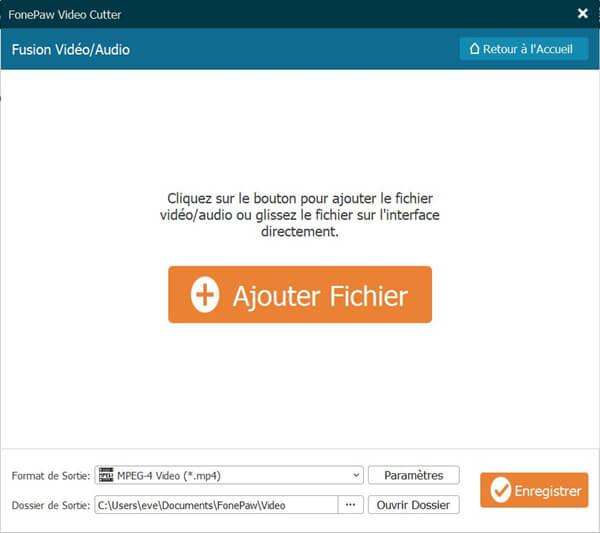 Ajouter la vidéo et les fichiers audio