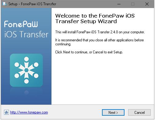 FonePaw iOS Transfer Setup Wizard