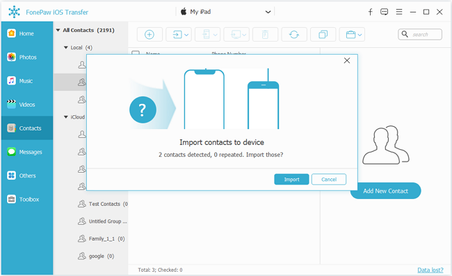 Import Outlook Contacts to iPhone
