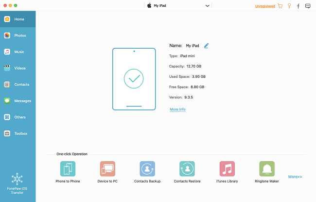 Run FonPaw iOS Transfer on Mac