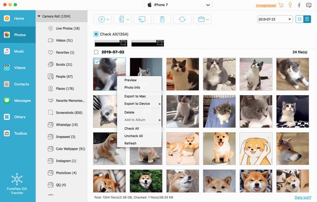 Preview iPad Photos on Mac