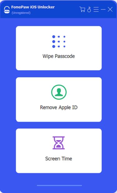 iOS Unlocker Interface