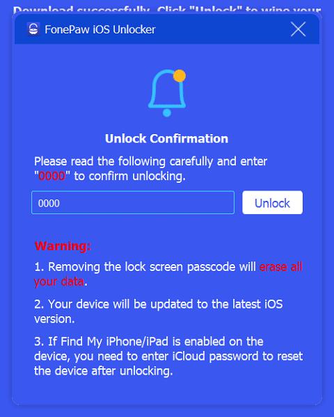 Unlock Confirm