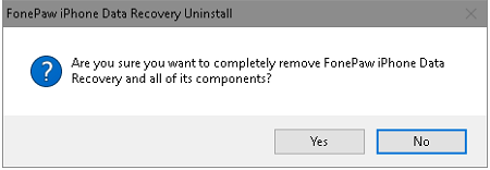 Choose to Remove FonePaw Program
