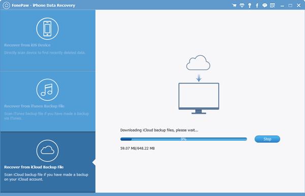 Scan the iCloud Backup Files