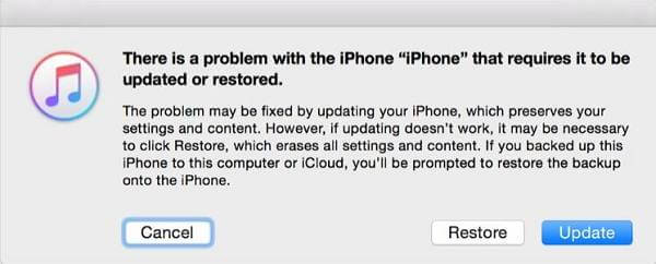 Restore iPhone in Recovery Mode