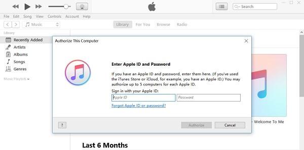 iTunes Authorize This Computer