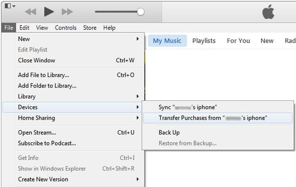 iTunes Transfer Purchases