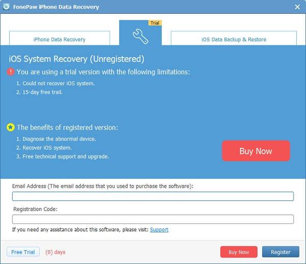 Register iOS System Recovery