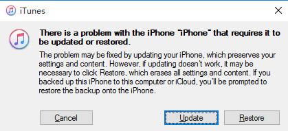 Restore or Update iPhone on iTunes