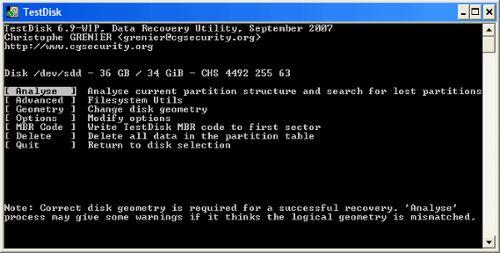 パーティション TestDisk 復元