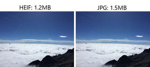 HEIF JPG 比較