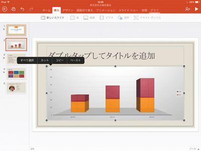 iPad パワーポイント グラフ