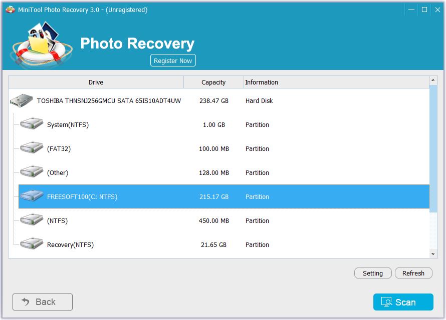 MiniTool Photo Recovery Free