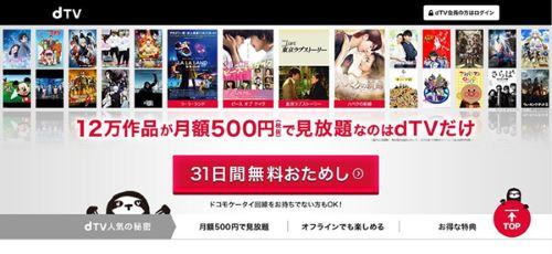 動画 サービス dTV