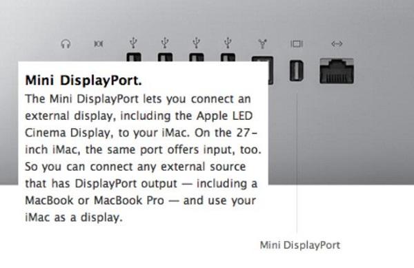 Mini DisplayPort on Mac