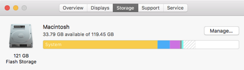 Mac System Storage Taking Up Too Much Space
