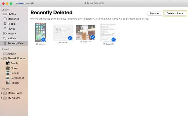Permanently Delete Photos on Mac