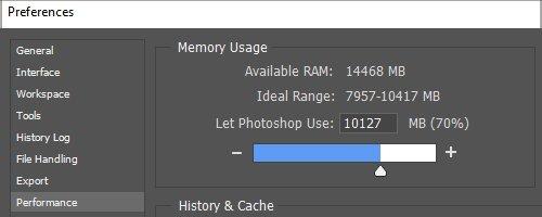 Photoshop Memory Usage