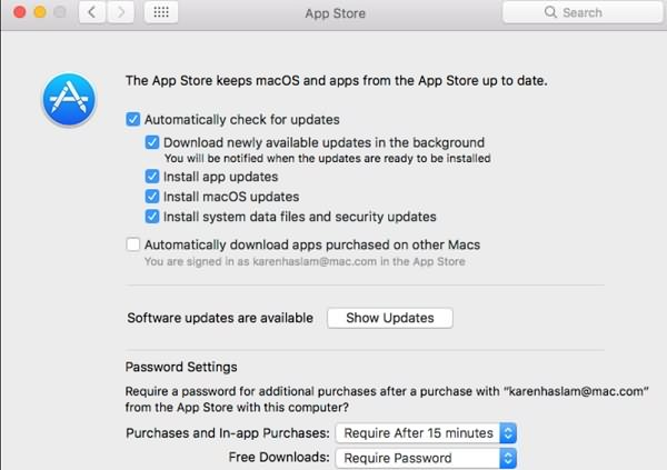 Automatically Download macOS Update