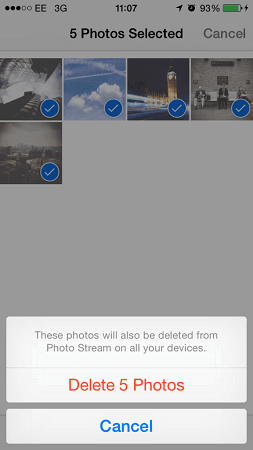 Delete Photos from My Photo Stream