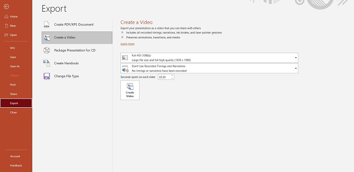 Create A Video on PowerPoint