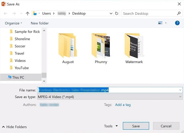 Save PowerPoint to Video
