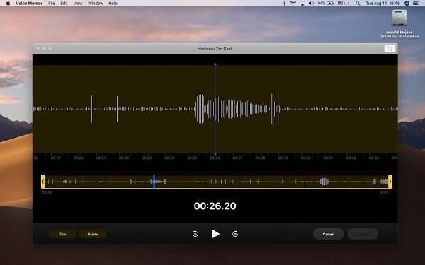 Editing in Voice Memo