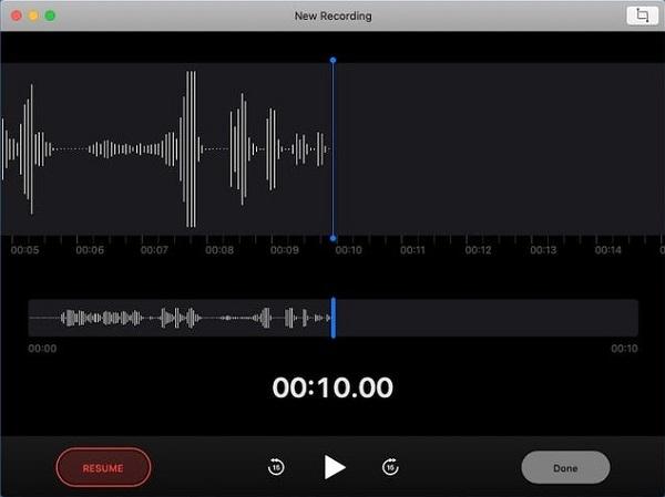 Voice Memo Resume Recording