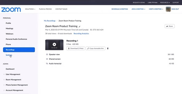 Download Zoom Recording