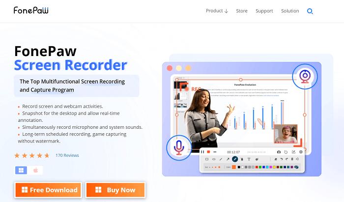 FonePaw Screen Recorder Website