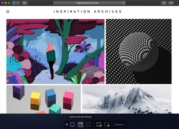 Capture Screenshot on macOS Mojave