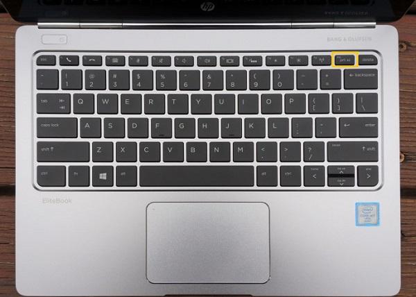 PrtSc Button on HP Laptop