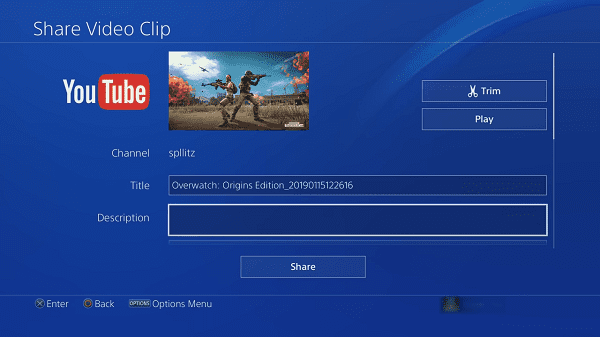 Edit Video on PS4