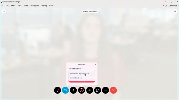Record Webex to Computer or to Cloud