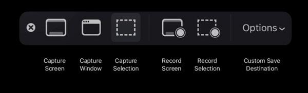 Screenshot Toolbar on Mojave