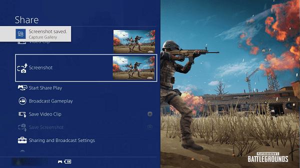 Take Screenshot on PS4