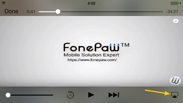 AirPlay YouTube Video