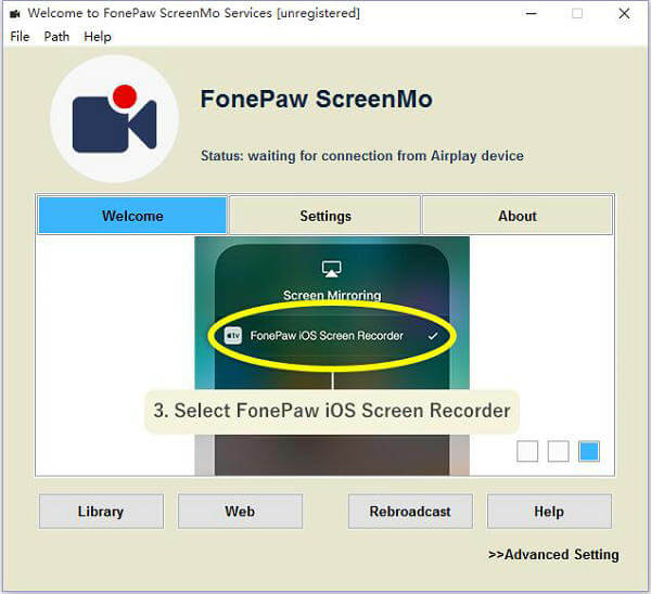 iOS Screen Recorder Homepage