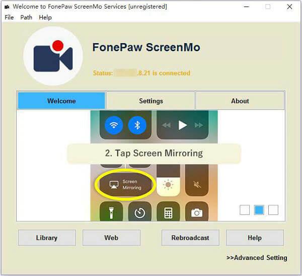 Tap Screen Mirroring