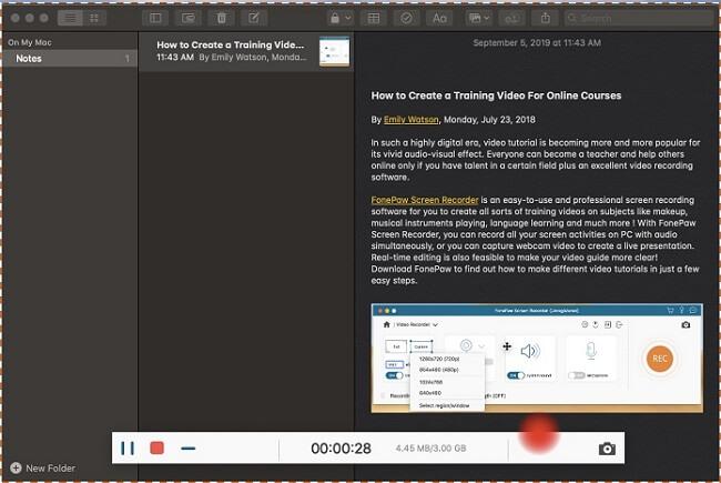 Recording Mac Screen with Audio