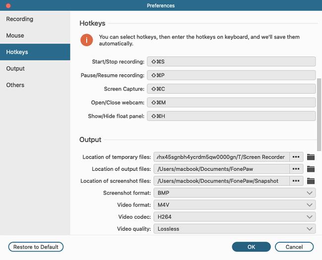 Customize Screenshot Keyboard Shortcut