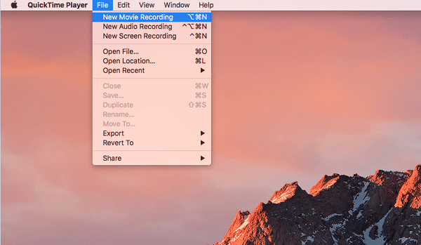 Start Audio Recording with QuickTime