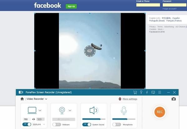 Record Facebook Videos