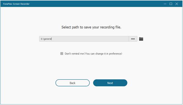 Select Output Path
