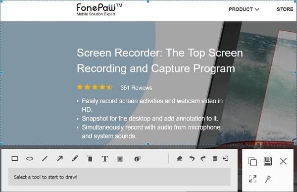 Screenshot on Surface Computer