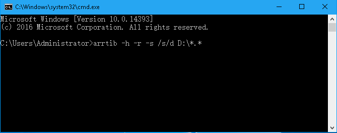 Recover Data Using Command Prompt