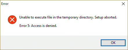 Access Denied Error on Windows
