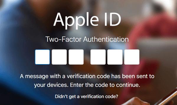 Log in Apple ID