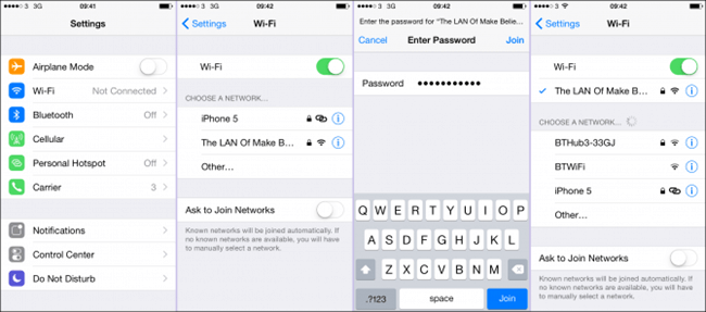Connect iPhone to Wi-Fi